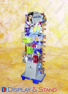 Прилавок для товара N505 из проволоки для продуктов питания в центр