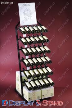 Прилавок для товара N508 из профильной трубы для продуктов питания в центр
