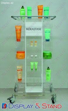 Стенд напольный для промоакции N514 из пластика для рекламы в центр