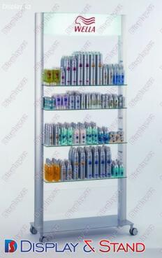 Стенд напольный N515 из пластика для парфюмерии в центр