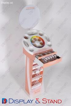 Торговая стойка N560 из ламината для парфюмерии в центр