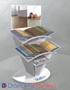 Стенд настольный для рекламы N573 из пластмассы для канцелярских товаров в центр