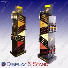 Mərkəzdə içki reklamı üçün metaldan hazırlanmış yerüstü reklam stendi N574