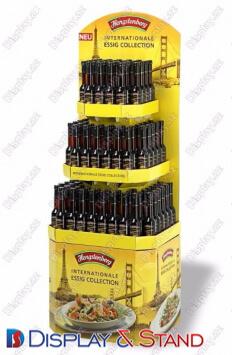 Прилавок для товара для промо-акций N583 из метала для напитков и рекламы в центр