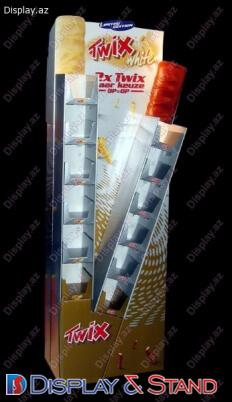 Торговая стойка N590 из картона для сладостей в центр