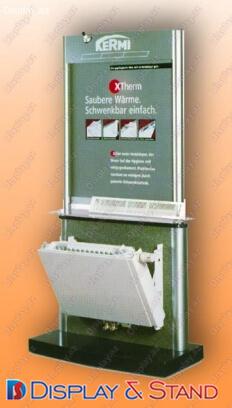Торговая стойка для промоакции N59 из ламината для промо товаров пристенный