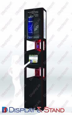 Прилавок для товара N630 из профильной трубы для парфюмерии в центр