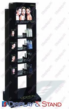 Стенд напольный N649 из профильной трубы для буклетов и журналов и канцелярских товаров в центр