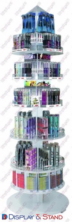 Торговая стойка продажи штучного товара N669 из профильной трубы для парфюмерии в центр