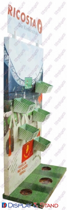 Стенд напольный для рекламы N692 из метала для витрина для снеков пристенный