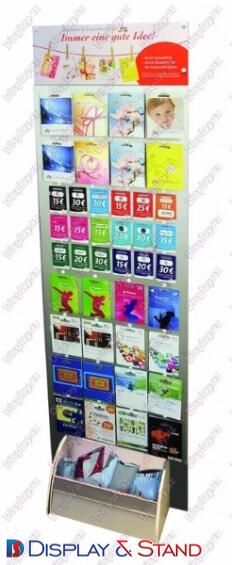 Торговая стойка N701 из пластика для буклетов и журналов и канцелярских товаров пристенный