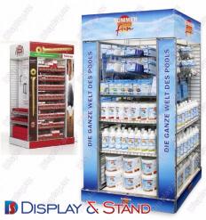 Пристенная мебель N723 из профильной трубы для продуктов питания и косметики пристенный и в центр