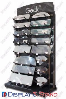 Avadanlıqlar üçün metaldan divara quraşdırılmış məhsul stendi N743