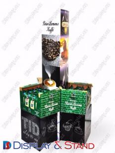 Стенд напольный для рекламы N746 из пластика для продуктов питания в центр