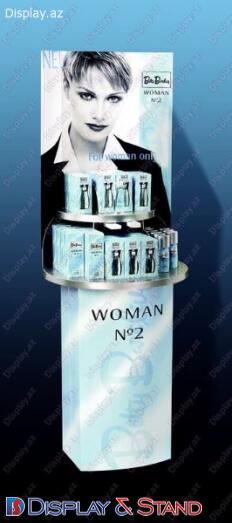 Пристенная мебель для промо-акций N75 из картона для промо товаров в центр