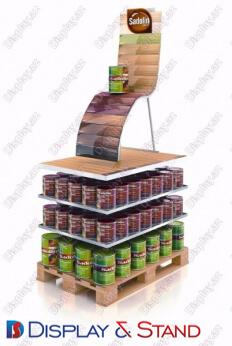 Стеллажи островок ламината N764 из пластмассы для продуктов питания и напитков в центр