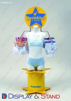 Прилавок для товара для рекламы N905 из пластмассы для промо товаров и техники в центр