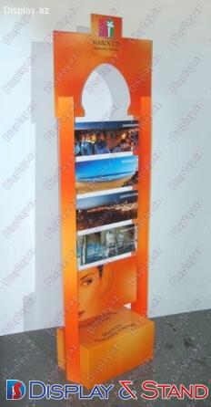 Стенд напольный для промо-акций N857 из пластика для канцелярских товаров в центр
