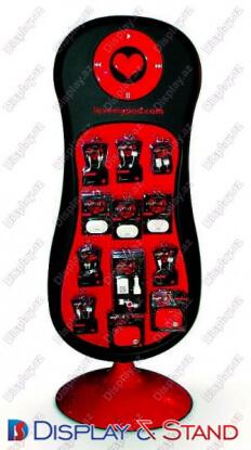 Прилавок для товара N873 из пластика для косметики рекламы и техники в центр