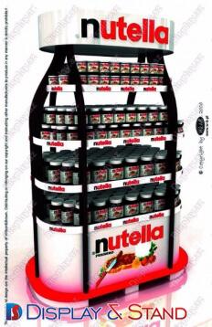 Прилавок для товара N882 из проволоки для продуктов питания и напитков в центр