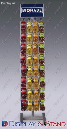 Торговая стойка N925 из профильной трубы для алкоголя