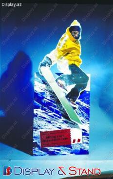 Reklam üçün plastikdən hazırlanmış divara quraşdırılan yerüstü stend  N93