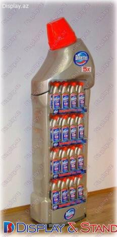 İçki və texnologiyalar üçün plastikdən hazırlanmış divara quraşdırılan yerüstü stend N954