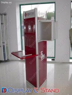 Торговая стойка N959 из метала для канцелярских товаров и промо товаров в центр