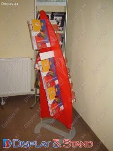 Торговая стойка N960 из акрила для буклетов и журналов и канцелярских товаров в центр