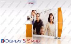 Tanıtım və reklam üçün metaldan hazırlanmış divara quraşdırılan ticarət stendi N963