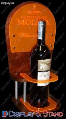 Стенд настольный из проволоки для промоакции N976 из акрила для выпивки и промо товаров