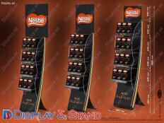 Пристенная мебель N981 из профильной трубы акрила для алкоголя, сладостей и промо товаров